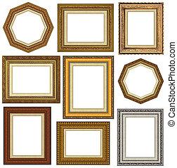 marcos, oro, imagen