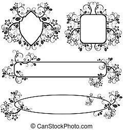 marcos, patrón floral