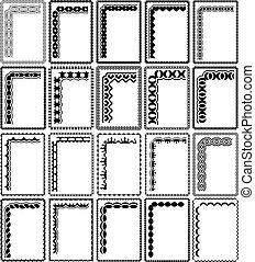 marcos, rectangular