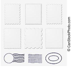 marcos, sellos, blanco