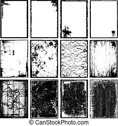 marcos, texturas, y