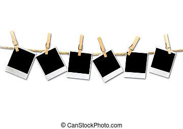 marcos, vendimia, 6, película, blanco