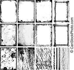 marcos, y, texturas