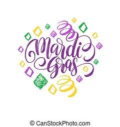 mardi, carnevale, scheda, manifesto, martedì, gras, patterns...