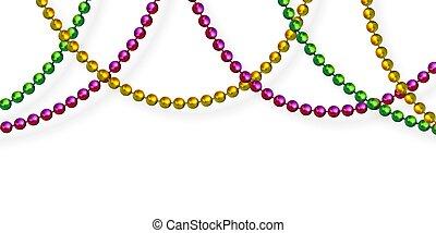 mardi, colors., perles, traditionnel, gras