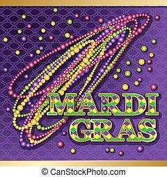 Mardi Gras background.