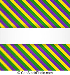 Mardi gras background with banner