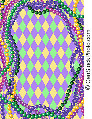 Mardi Gras beads background - Mardi Gras beads background...