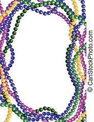 Mardi Gras Beads Background - Mardi Gras colorful beads...