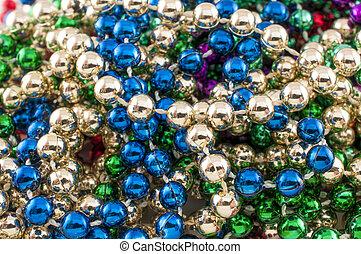 Mardi Gras Beads closeup