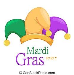 mardi gras, cappello, giullare