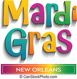 Mardi Gras card sign. Vector design