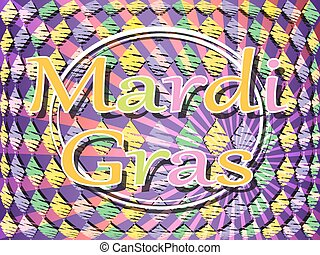 Mardi Gras carnival colorful background.