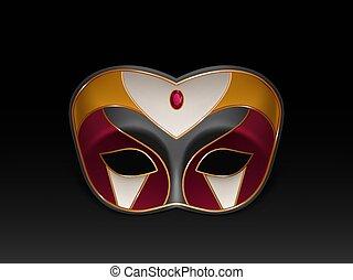Mardi Gras carnival face mask realistic vector