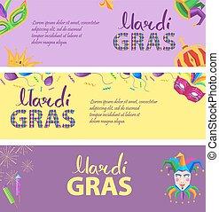 Mardi Gras. Carnival Invitation Poster Illustration
