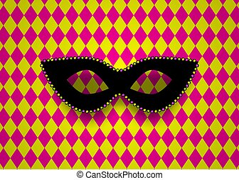 Mardi Gras carnival mask background