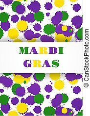 Mardi Gras carnival party background. Fat tuesday. Vector illustration.