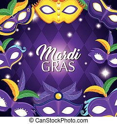 mardi gras carnival party poster background