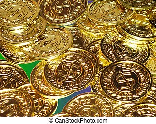 Mardi Gras coins to toss