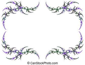 Mardi Gras Colored Fractal Frame - Mardi Gras colored...