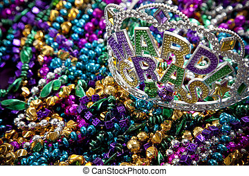 Mardi Gras crown - A colorful mardi gras crown or tiara...