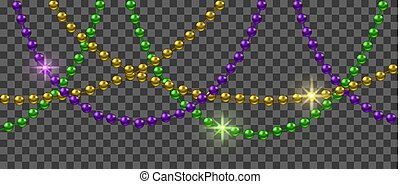 Mardi Gras decoration with shiny colorful beads