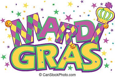 Mardi Gras - Mardi Gras type treatment with crown