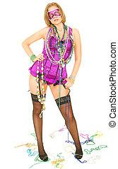 Mardi Gras Girl Standing