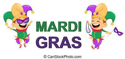 mardi gras, giullare