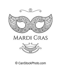 Mardi Gras greeting card - Beautiful lace mask for ...