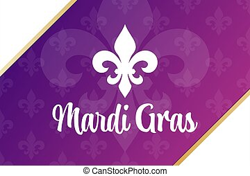 Mardi Gras. Holiday concept. Template for background, banner, card, poster with text inscription. Vector EPS10 illustration.