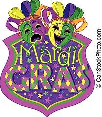 mardi gras, máscaras, desenho