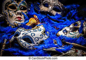 Mardi gras mask - A group of venetian, mardi gras mask or ...