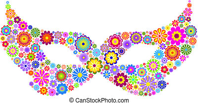 Mardi gras mask - Vector illustration of carnival mask on...