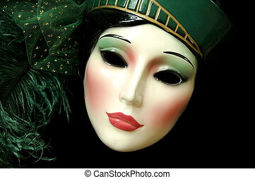 mask - woman's face
