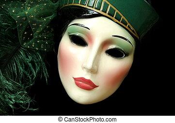 Mardi Gras - mask - woman's face