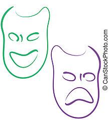 mardi gras, maski