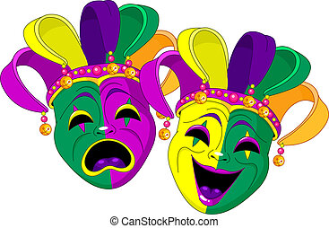 Mardi Gras Masks - Mardi Gras Comedy and  Tragedy Masks