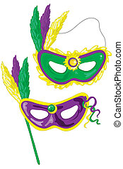 Mardi Gras masks - Mardi gras masks. Who dat?