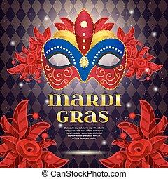 Mardi Gras Party Bright Poster