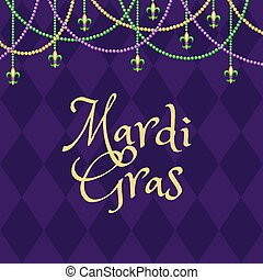 Mardi gras purple background