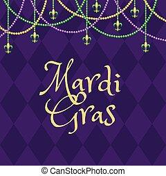 Mardi gras purple background