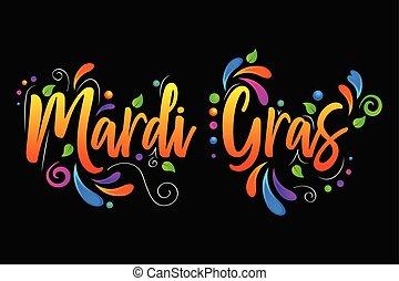 Mardi Gras vector isolated illustration on black background