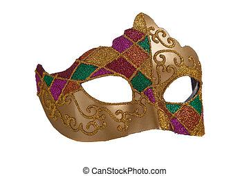 mardi, maska, złoty, gra