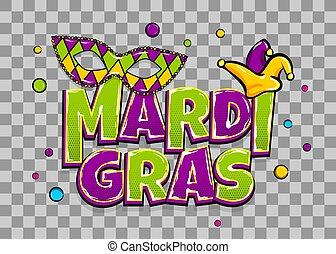mardi, parel, gras, shimmer, achtergrond