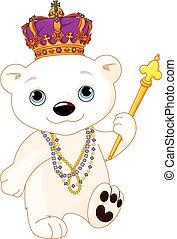 mardi, polarny, gras, niedźwiedź