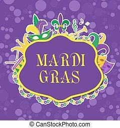 mardi, tambor, martes, máscaras, máscara, invitation.,...