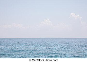 mare, blu, cielo, fondo
