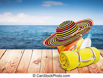 mare, legno, articoli, fondo, disegno, sagoma, offuscamento, tavola, spiaggia