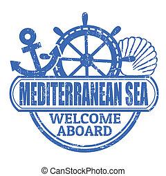 mare mediterraneo, francobollo